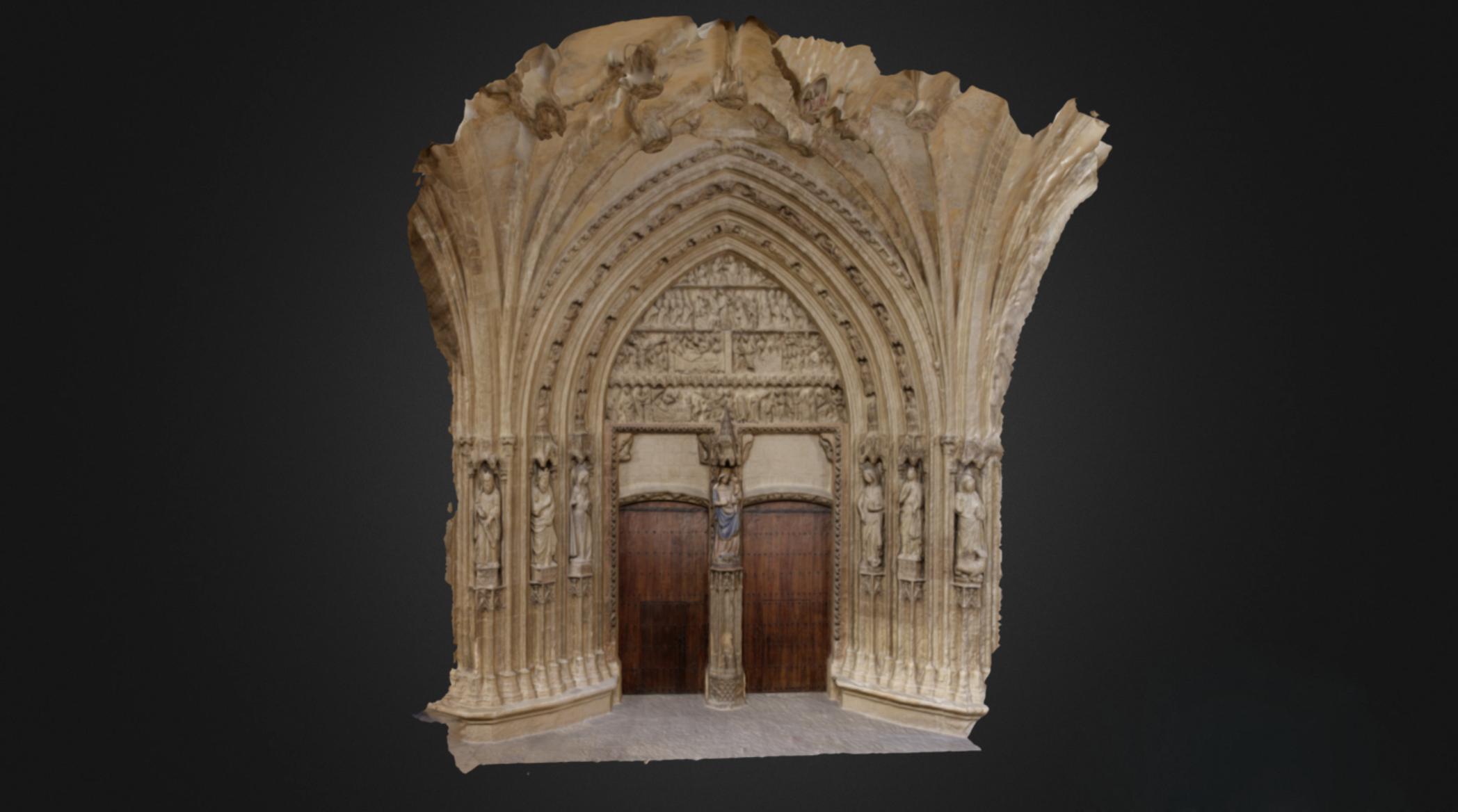 Portada Central (Vida de la Virgen), Catedral de Santa María de Vitoria