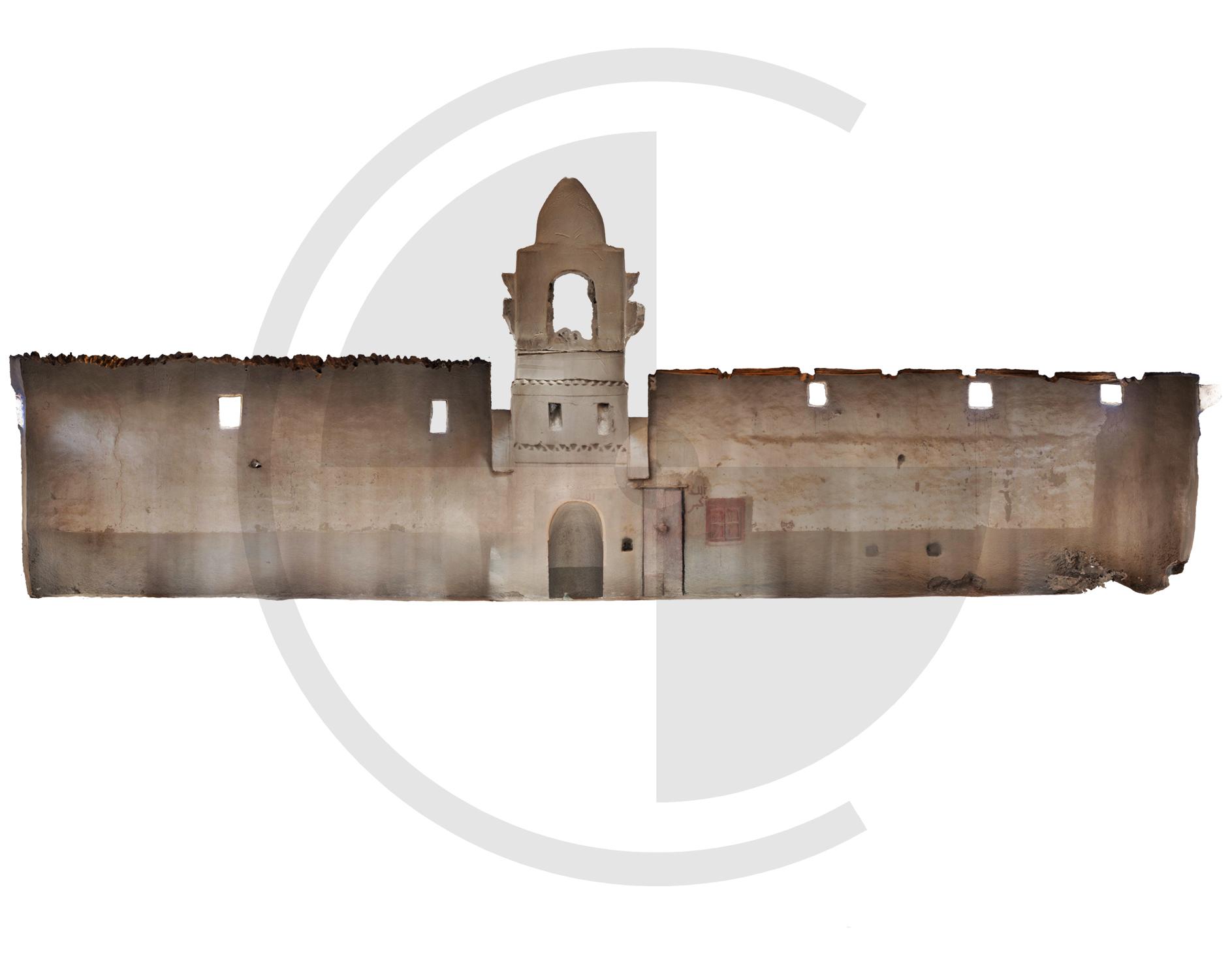 Alzado interior de la fachada de la Quibla