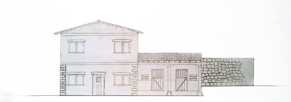 Boceto fachada principal - Vivienda en Vilviestre de Muñó