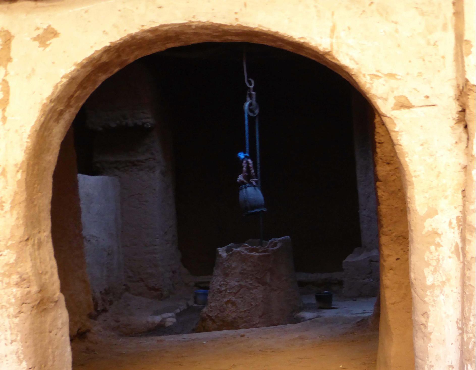 Pozo en el interior de la mezquita