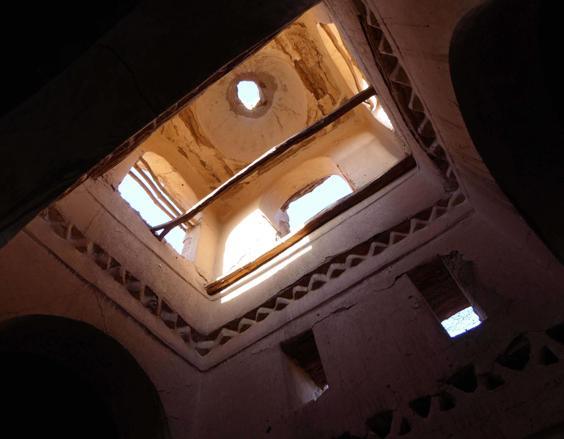 Interior de la cúpula de la mezquita