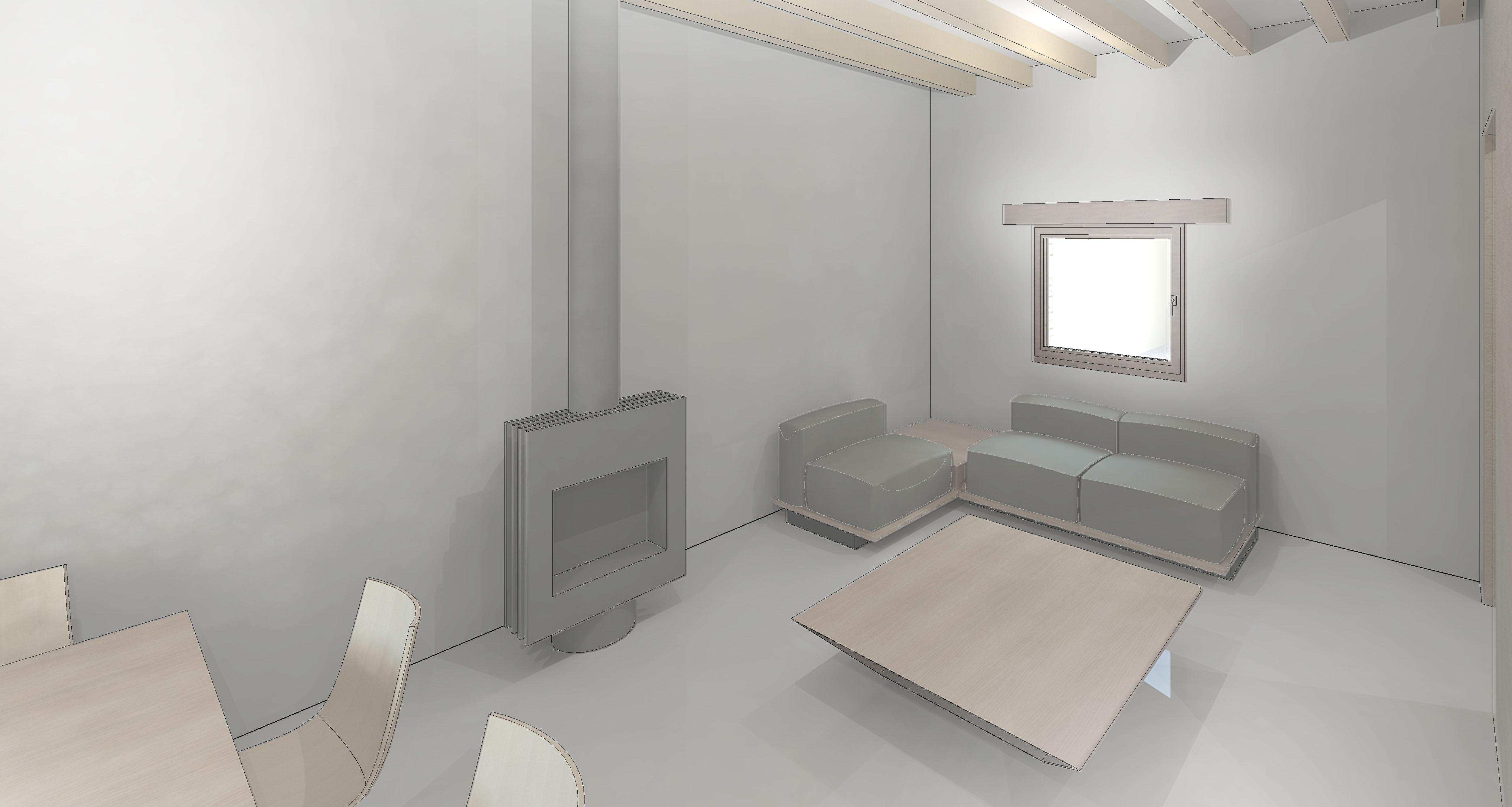 vista interior - comedor y salón