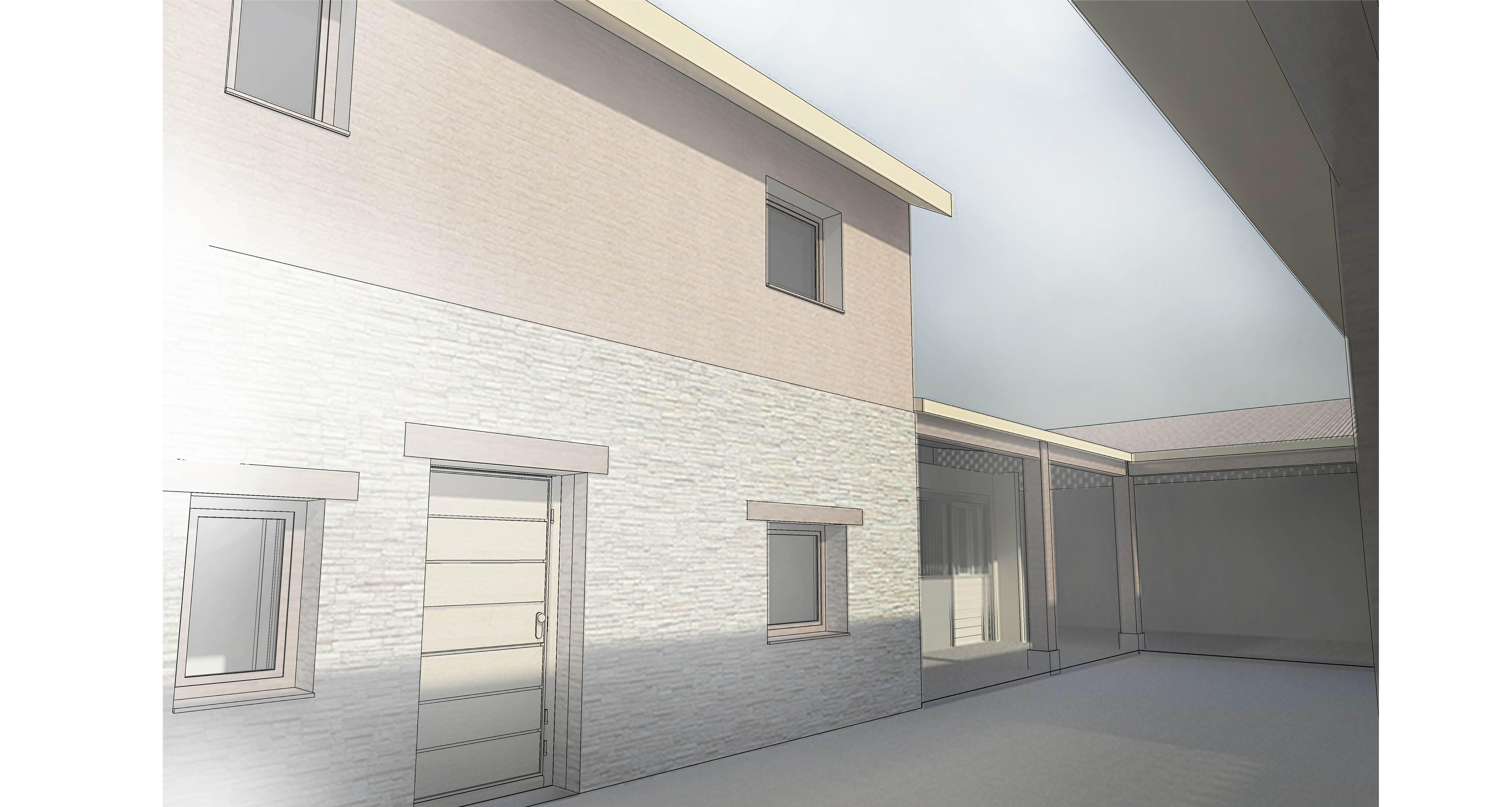 vista exterior - patio, cuadras  y acceso a la vivienda